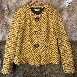 Vintage Yellow Print Jacket